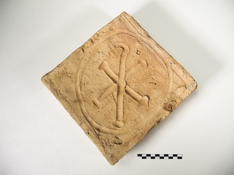 Brick with the Chi-Rho. Provincial Museum of Lugo